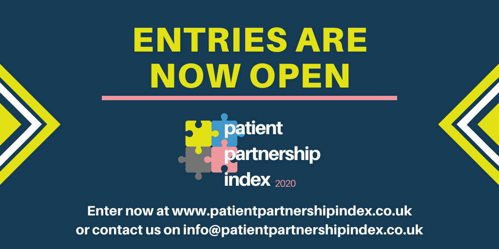 Entries are now open for the Patient Partnership Index 2020
